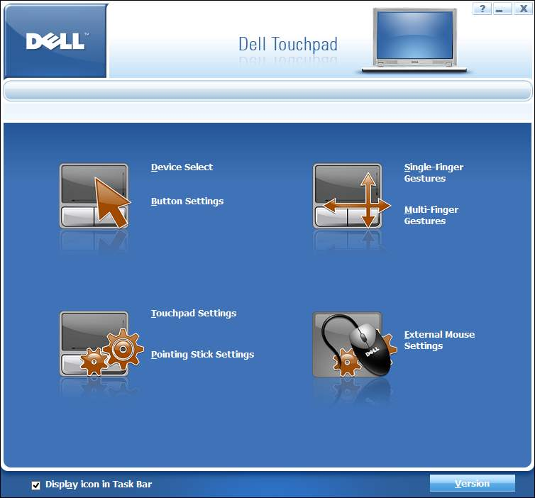 missing dell settings